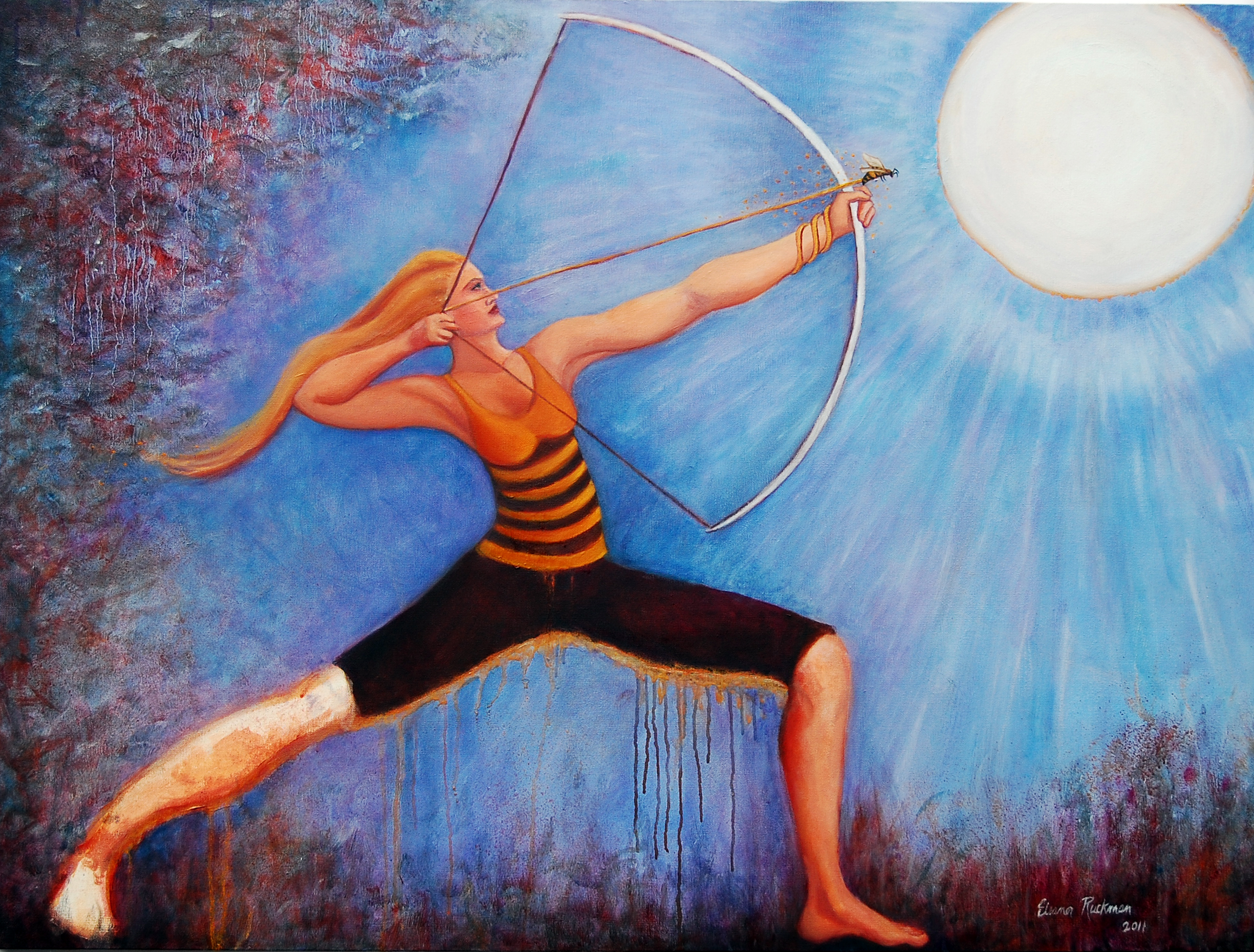 "Taking Aim, 2011, Oil on canvas, 30""h x 40""w, Eleanor Ruckman"